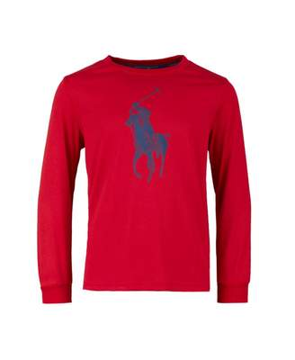 Polo Ralph Lauren Childrenswear Polo Player Long Sleeved T-shirt Colou