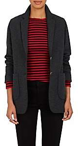 Xo Barneys Colombo Women's Cashmere-Silk Two-Button Blazer - Charcoal