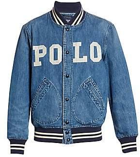 0220af5eb3 Polo Ralph Lauren Men s Varsity-Inspired Denim Jacket