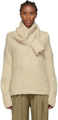 J.W.Anderson Beige Shawl Collar Sweater