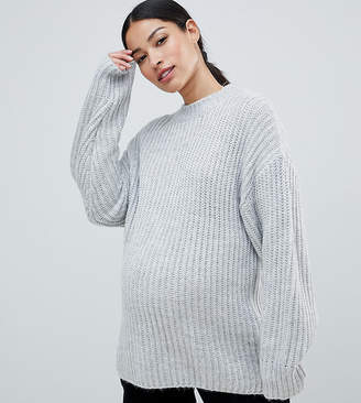 Asos (エイソス) - ASOS Maternity ASOS DESIGN Maternity chunky sweater in rib with crew neck