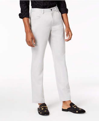 INC International Concepts I.n.c. Men's Shiny Slim-Fit Stretch Pants, Created for Macy's