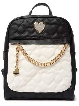 Betsey Johnson Chevron Heart Backpack