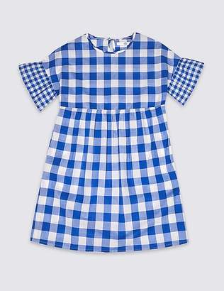 Marks and Spencer Gingham Pure Cotton Dress (3-16 Years)