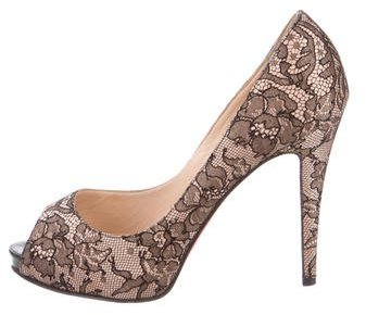 Christian Louboutin  Christian Louboutin Lace Very Prive Pumps