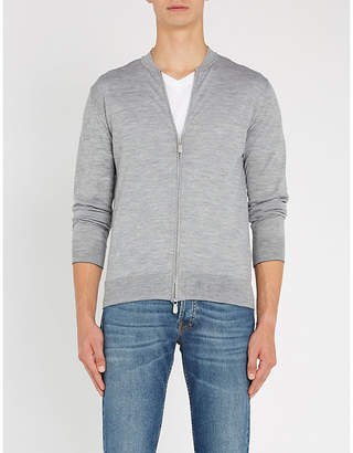 Eleventy Zipped wool and silk-blend jumper