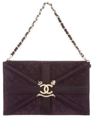 Chanel Suede Union Jack Clutch