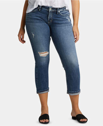 Silver Jeans Co. Elyse Ripped Capri Jeans