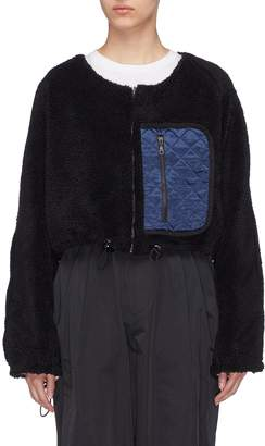 Minki Reversible quilted pocket faux shearling cropped jacket