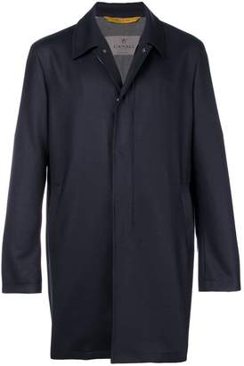 Canali concealed fastening midi coat