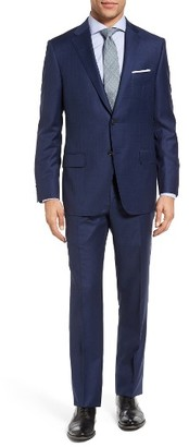 Men's Hickey Freeman Beacon Classic Fit Windowpane Wool Suit $1,695 thestylecure.com