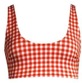 Mara Hoffman Lira Checked Bikini Top