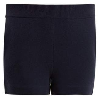 Allude Milano Wool Blend Shorts - Womens - Navy