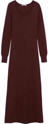 Helmut Lang - Cashmere Maxi Dress - Burgundy $725 thestylecure.com