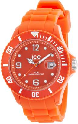 Ice Men's Solid Orange Dial Orange Plastic