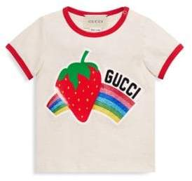 Gucci Baby Girl's Strawberry& Rainbow Tee