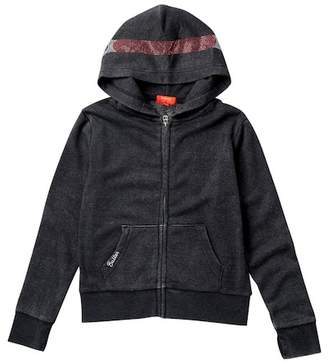 Butter Shoes Super Soft Burnout Fleece Zip Hoodie (Little Girls)