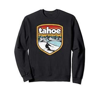 Retro Lake Tahoe Skiing Vintage Distressed Sweatshirt