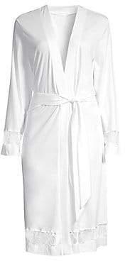 Hanro Women's Lavea Valea Lace-Detailed Wrap Robe