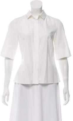 Akris Short Sleeve Button-Up Top