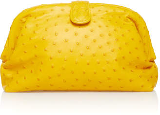 Bottega Veneta Lauren Ostrich Leather Clutch