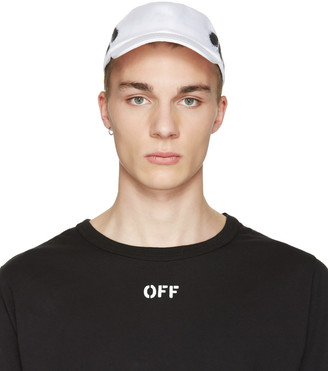 Off-White White Diagonal Spray Cap $120 thestylecure.com