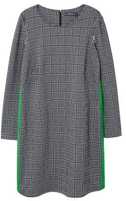 Violeta BY MANGO Contrasting trims checked dress