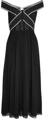 Topshop Constance Off-The-Shoulder Tulle Gown