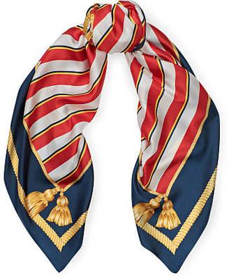 Ralph Lauren Shield Crest Silk Scarf