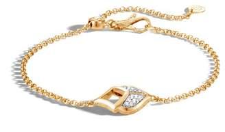 John Hardy Naga Pull Through Bracelet With Diamonds