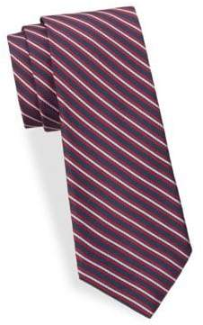Saks Fifth Avenue Ribbon Stripe Silk Tie