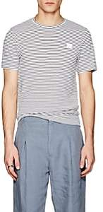 Acne Studios Men's Nele Striped Cotton T-Shirt - White