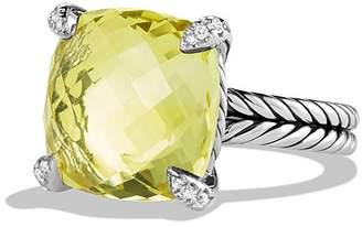 David Yurman Ch'telaine Ring with Lemon Citrine and Diamonds