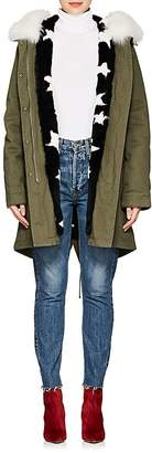 Army by Yves Salomon Women's Reversible Cotton & Star-Print Fur Parka