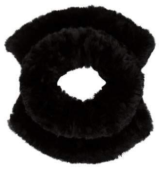 Woven Fur Snood Black Woven Fur Snood