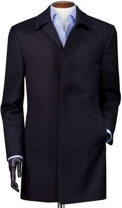 Charles Tyrwhitt Navy Twill Weatherproof Wool Car Wool Coat Size 46