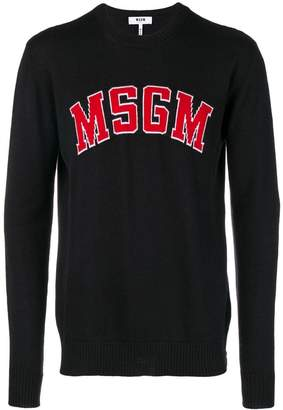 MSGM logo-knit sweater