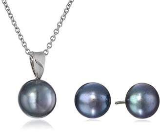 "Honora Freshwater Cultured Pearl 18"" Pendant Necklace and Stud Earrings Set"