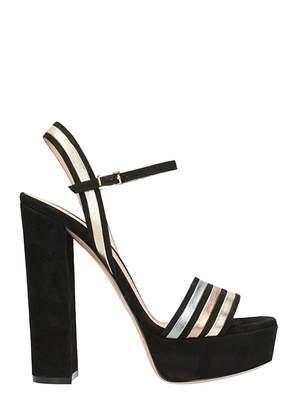 Lerre Plateau Black Suede Sandals