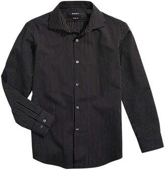 DKNY Big Boys Striped Dress Shirt