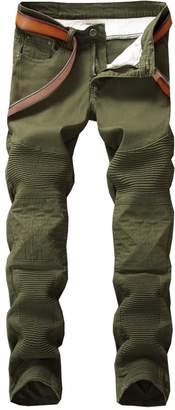Milan Station 3 Colors Men's Skinny Fit Tapered Leg Stretch Biker Jogger Jeans Pants