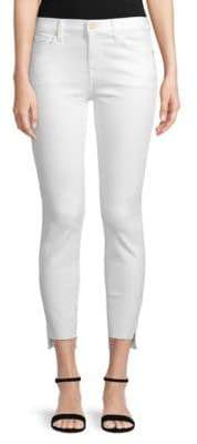 7 For All Mankind Gwenevere Cropped Step-Hem Jeans