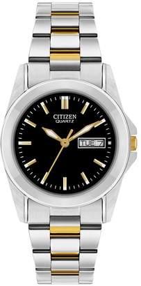 Citizen Ladies Quartz Stainless Steel Black Dial Watch