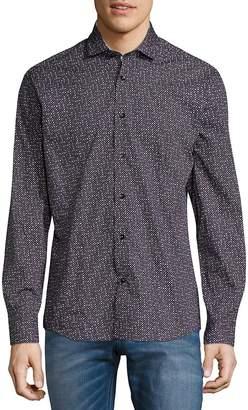 Bogosse Men's Printed Button-Down Shirt