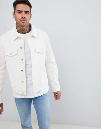 Asos DESIGN cord jacket in ecru