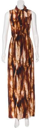 Opening Ceremony Printed Silk Maxi Dress