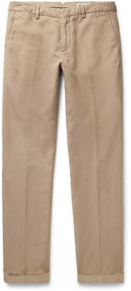 NN07 Noho Slim-Fit Cotton And Linen-Blend Trousers