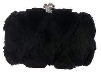 Alexander McQueen Fur Skull Box Clutch