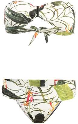 OSKLEN Leaf print bikini set