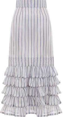 Zimmermann Painted Heart Folds Skirt